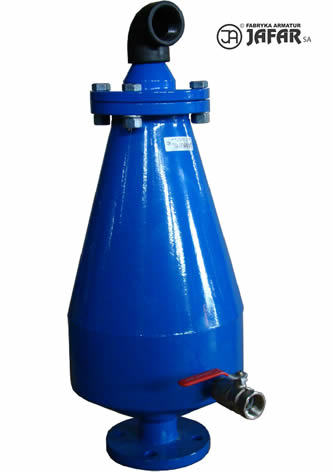 Légbeszívó- és légtelenítőszelep szennyvízre 2 fokozatú 7020 tip.